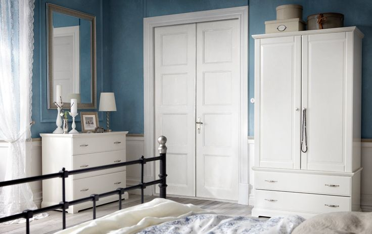 BIRKELAND white dresser and SONGE mirror would be perfect for our guest room!  Also love the EMMIE LAND duvet cover/shams @jlholdman