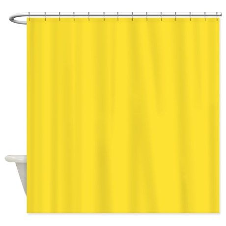 Solid Lemon Yellow Shower Curtain on CafePress.com