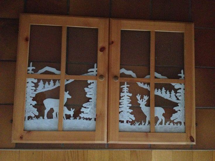 Winterlandschaft im Fenster