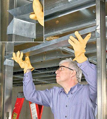 Framing an internal door with metal studs