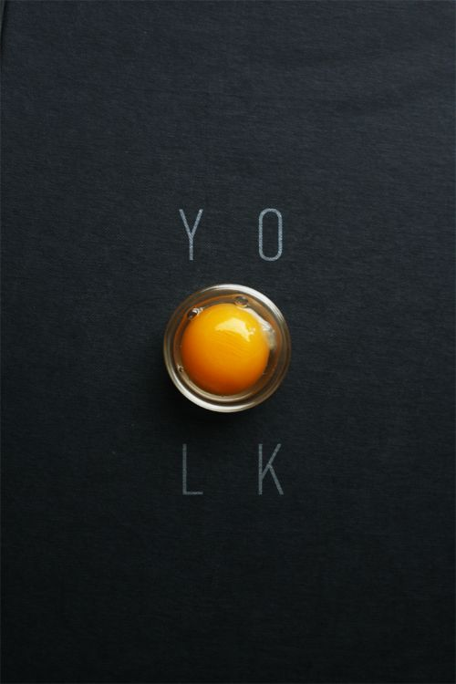 Food Styling:  Egg Yolk | Food. Art + Style. Photography: Food on black by Michelle Min @ Touch.Taste.Design. |