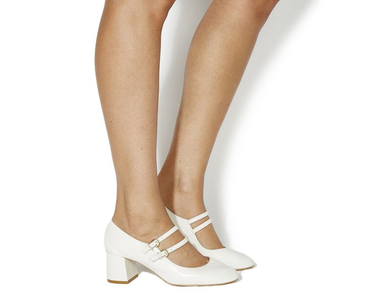 Buy Off White Leather Office Mindy Mary Jane Block Heels from OFFICE.co.uk.