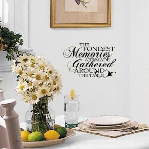 Wall decal to go above a dining room or kitchen table for Dining room wall art pinterest