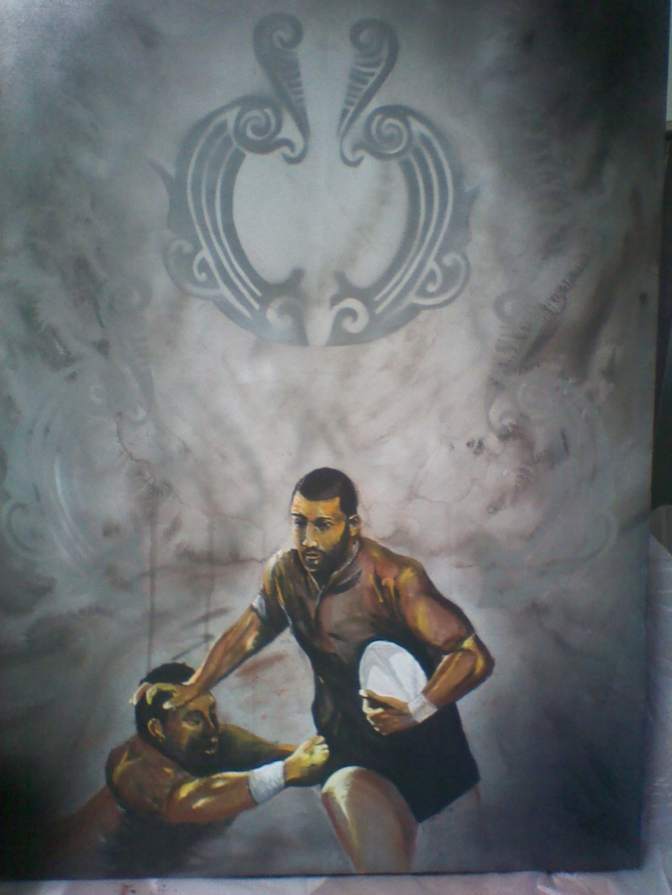 Reclaiming the Warrior  Private Commission  #warrior #rugby #maori