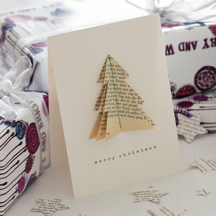 bookish Tree Christmas Card - Bookish