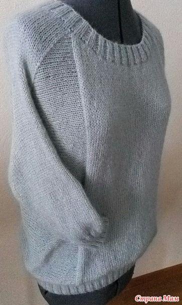 Очень уж мне нравится эта модель http://www.ravelry.com/  Есть у меня такой сиреневый из Perla, вот решила что нужен тепленький вариант.