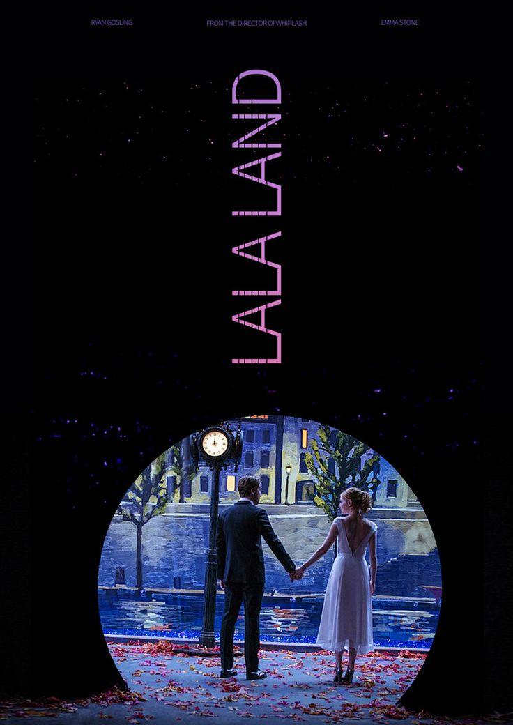 영화 '라라랜드(LALALAND) 리디자인 포스터 - 그래픽 디자인 · 일러스트레이션, 그래픽 디자인, 일러스트레이션, 그래픽 디자인, 타이포그래피