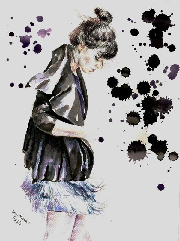 Fashion Bloggers 2 by Aleksandra Stanglewicz, via Behance
