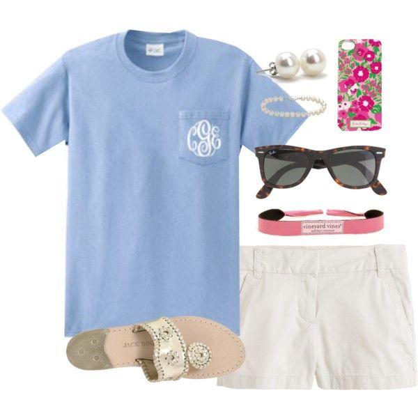 Monogram, created by classically-preppy on Polyvore