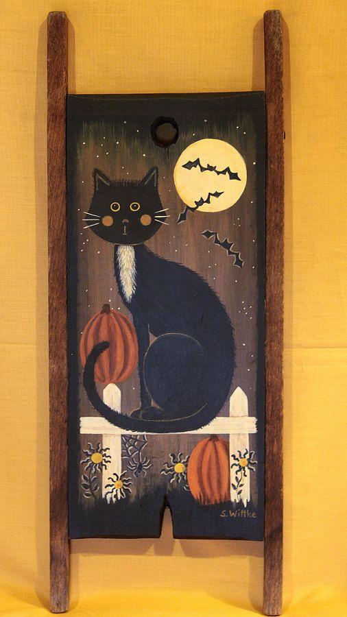Halloween and Christmas Folk Art Hand Hand Primitive by Ravensbend