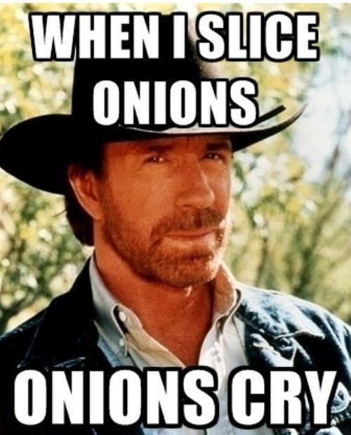 When I Slice Onions...