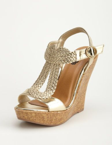 J Crew Factory Gold Low Heel Shoes