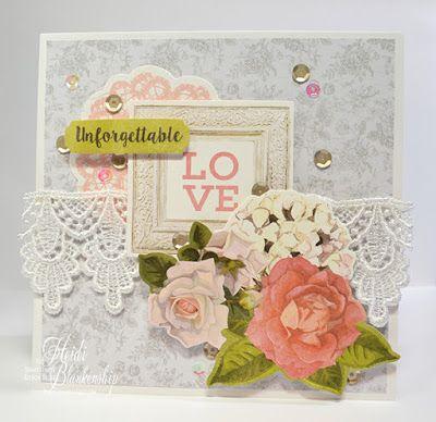 Kaisercraft Cottage Rose Unforgettable Love Card