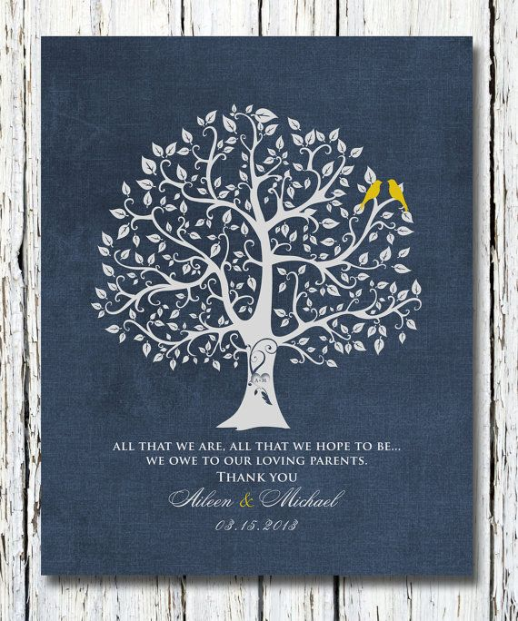 Wedding Gift for Parents from Bride and Groom by WordsWorkPrints, $20.00