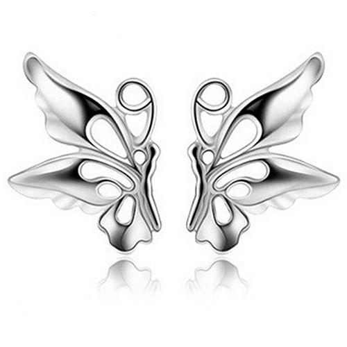 Bluelans Elegant Ladies Women's  Stud Earring Hollow Butterfly Ear Stud Earrings Jewelry