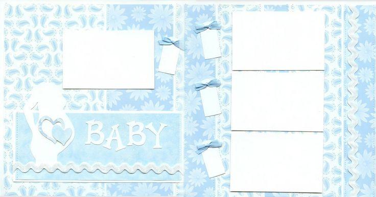 BABY BOY ULTRASOUND SCRAPBOOK LAYOUT