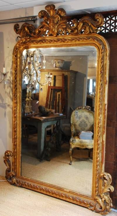 Beautiful gilt mirror to lean against the wall