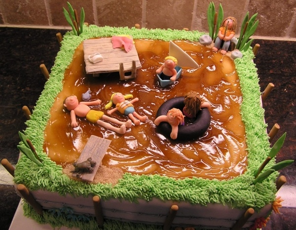 A Day at the Pond Cake ~ fun!