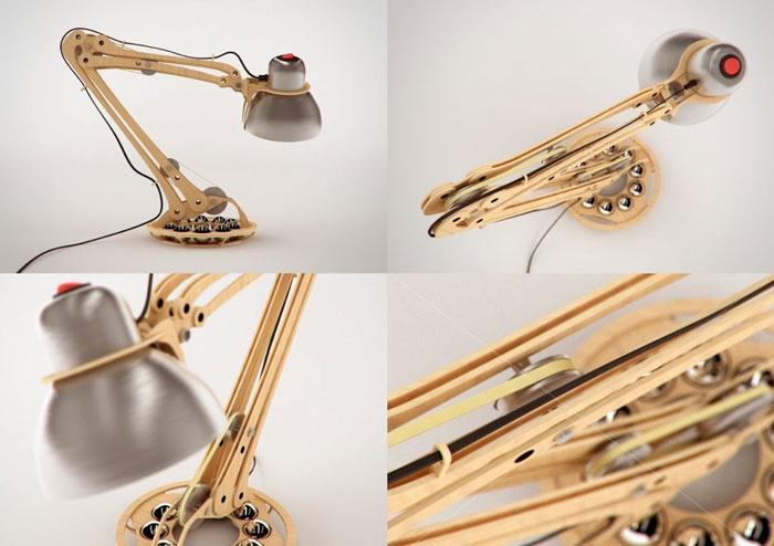 Rhizome wooden lamp 2