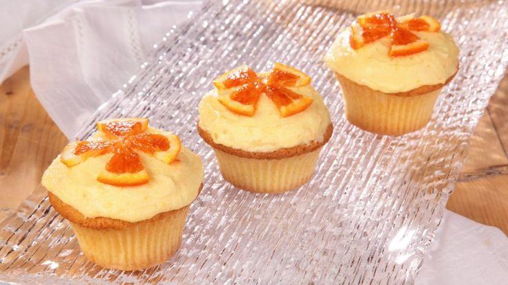 Cupcakes gialli con crema al burro all'arancia: Ricette Dolci | Cookaround