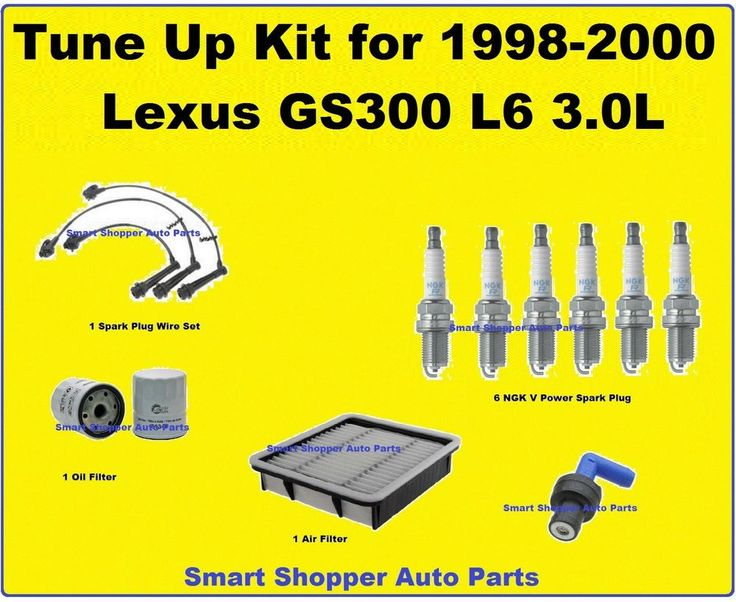 c8de9de16a7bee860ecc2c42a79a685b spark plug oil filter tune up kit for 1998 2000 lexus gs300 spark plug wire set, oil 2001 lexus gs300 spark plug wire diagram at gsmx.co