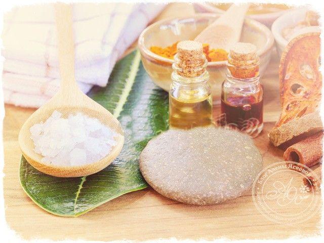 Скраб с маслом и солью для кожи головы