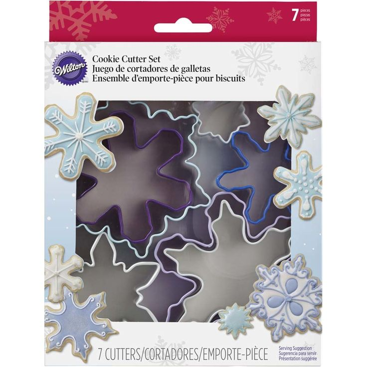 Make a flurry of fun snowflake-shape cookies for the holidays. Use the Snowflake Cookie Cutter Set to cut a variety of precise snowflake shapes and sizes.