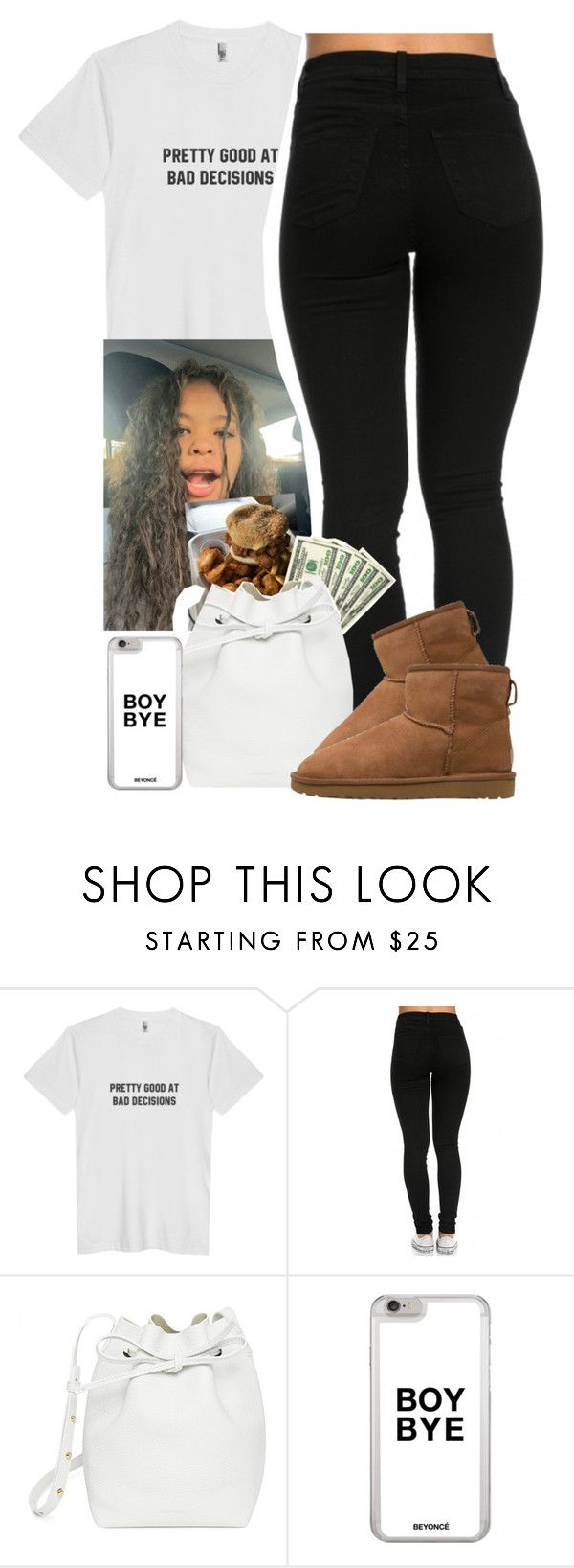 """pretty good at bad decisions"" by xxsaraxtaraxx ❤ liked on Polyvore featuring Mansur Gavriel and UGG"