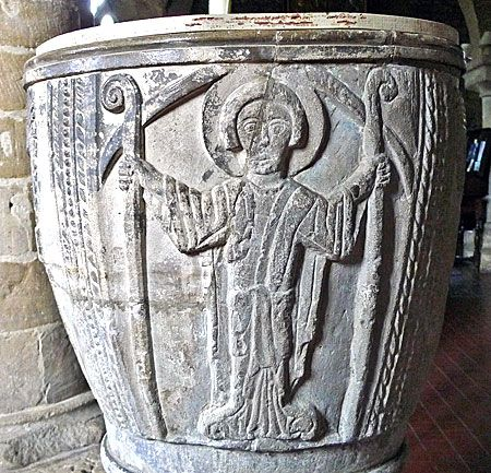 2xCrozier St Faith Overbury font