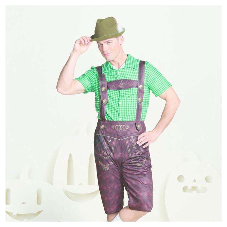Men's Lederhosen Costume M - Hyde and Eek! Boutique, Brown