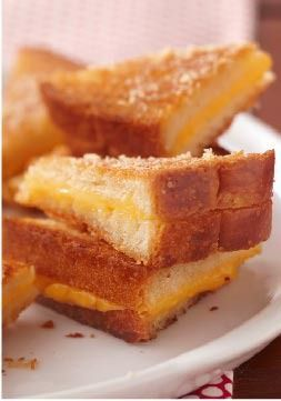 Ultimate Crispy Grilled Cheese Sandwiches – You may never make regular grilled cheese sandwiches again after you make them the Ultimate Crispy way—sprinkled with Parmesan and baked until golden.