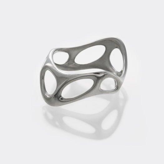 Серебряное кольцо #Bone