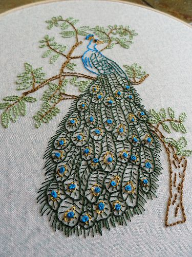 #peacock #embroidery