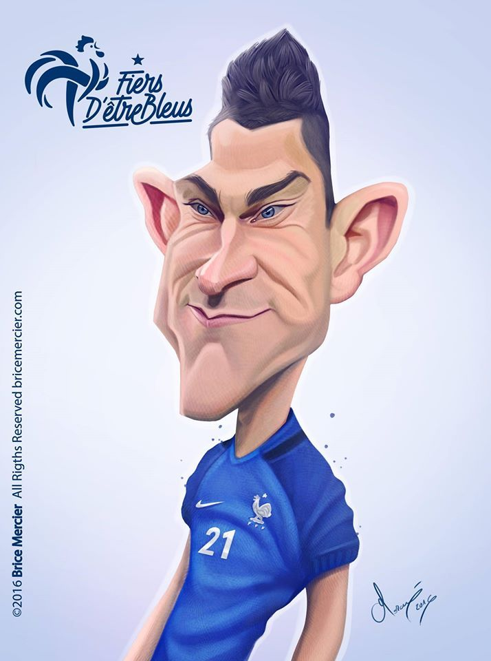 Caricature de Laurent Koscielny par Brice Mercier