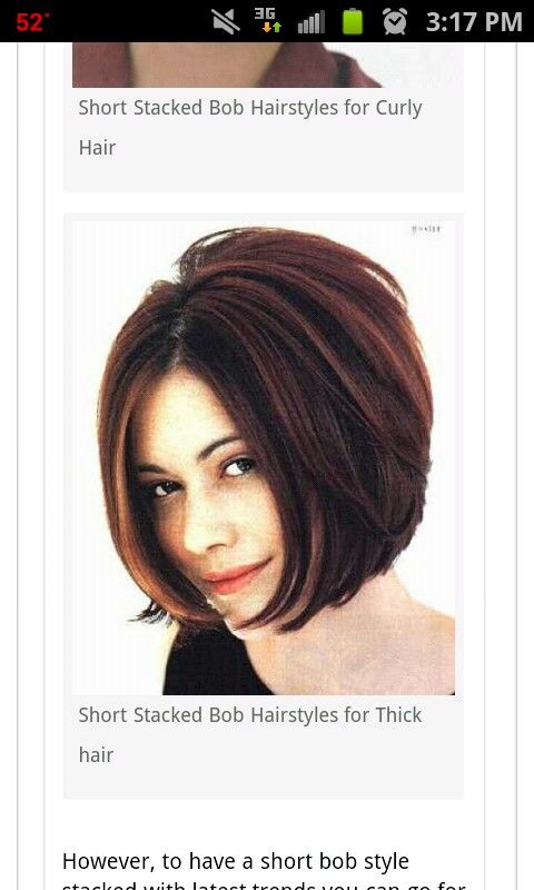 My favorite bob so far. Not terribly inverted or angled, nice gradual stack in back and just right length for the layer already in my hair. Would work wavy also.