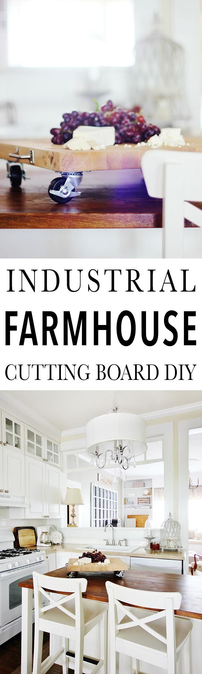 Industrial Farmhouse Cutting Board DIY (and a Brilliant Idea)