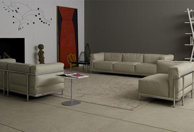 Le Corbusier Lc3 3 Seater Sofa Sofa Design Modern Classic Furniture Furniture