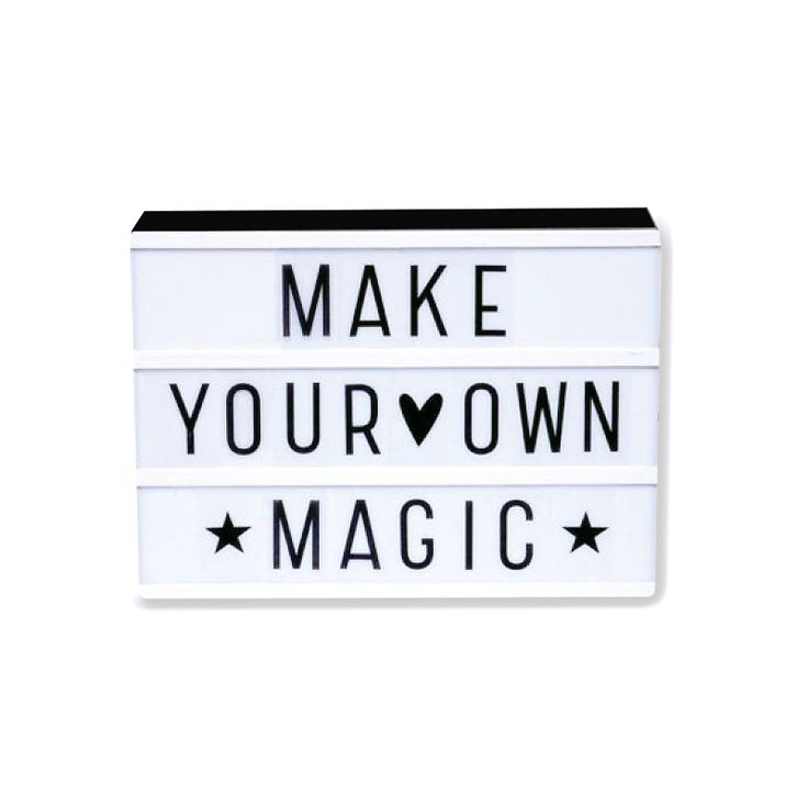 A Little Lovely Company - Lightbox A4 - Letterbox - The SHOP Online Herentals Little Lovely A4 Lightbox with 3 rows for all your quotes messages! Original decorative light and also great fun to change your messages as often as you like. Simply slide the