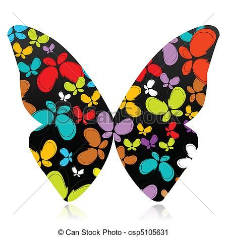 Background butterfly colorful decorative design flight Clipart and ...