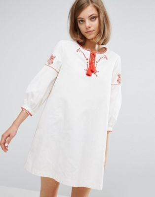 Vanessa Bruno Athe Canvas Embroidered Dress