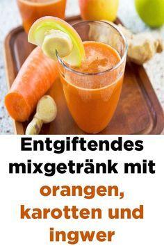 Entgiftendes mixgetränk mit orangen, karotten und…