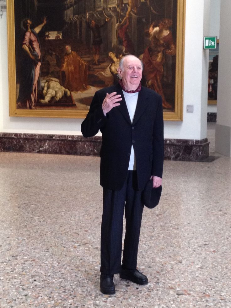 Il Premio Nobel per la letteratura Dario Fo alla Pinacoteca di Brera, in occasione della conferenza stampa di venerdi 20 febbraio