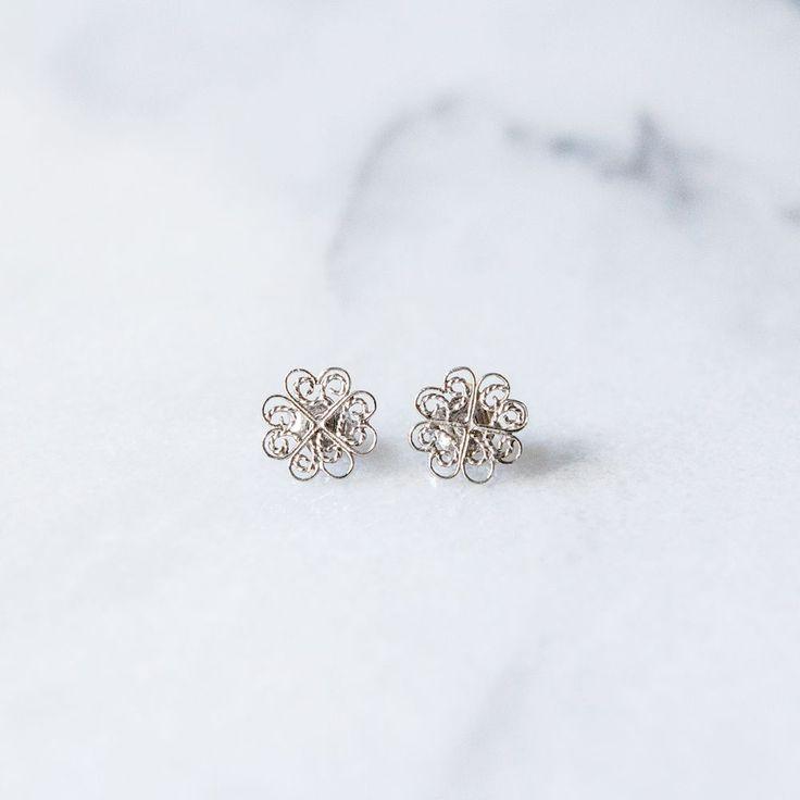 Sandra Earrings Silver via Filirose. Click on the image to see more!