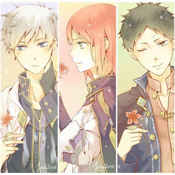 Akagami no Shirayuki-hime | Zen, Shirayuki, and Obi