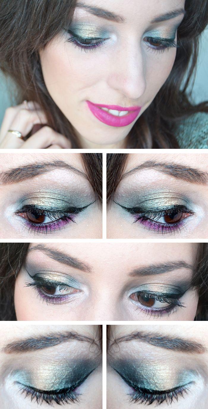 Green & gold make-up http://lejoliblog.com/2015/01/13/maquillage-emeraude/
