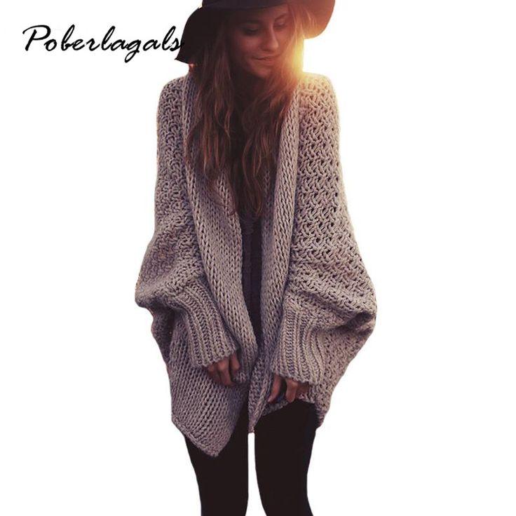 Купить товарФорме крыла летучей мыши рукав длинный макси кардиган свитера 2015 женщины моды осень Осень зима теплая вязаные свитера негабаритных в категории Кардиганына AliExpress.          2016 Autumn Winter Fashion Women Long Sleeve loose knitti
