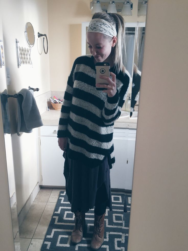 DRESSEMBER DAY 15: gray dress - free people    sweater - forever 21    boots - Steve Madden    headband - f21