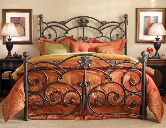 Wesley Allen Iron Beds - Lucerne - at D Noblin Furniture...Few Compromises, stunning complexity and a French palatial interpretation make the Lucerne a sight to behold. Yes, it is.