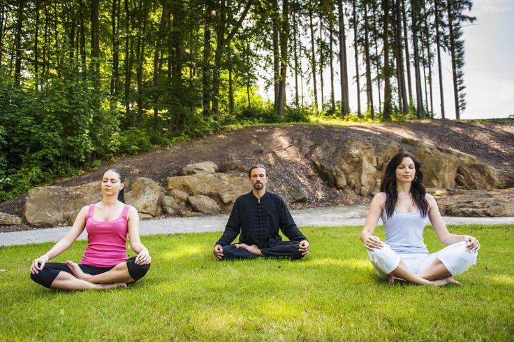 Meditation in the hotel garden