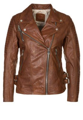 PERFECTION - Leather jacket - brown